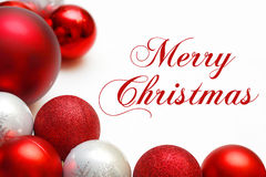 Free Group Of Tree Ornaments Framing Merry Christmas Text Stock Image - 44503601