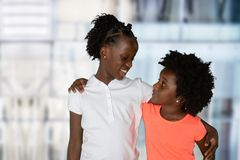 Free Group Of Two Young African American Girls Stock Images - 131708904