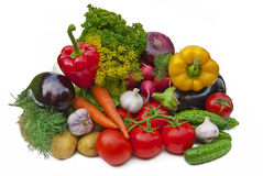 Group Of Vegetables Stock Images