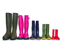 Free Group Of Wellie Boots Stock Image - 14734241