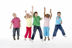 Free Group Of Young Children In Studio Stock Photo - 9817760