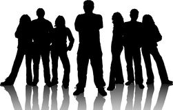 Free Group Of Young People Stock Image - 473961