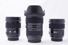 Group ofDSLR Lens royalty free stock photo