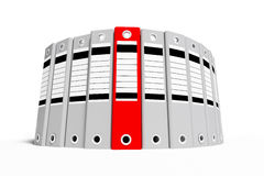 Group office folder gray and red Royalty Free Stock Image