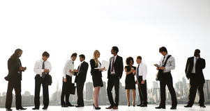 A Group Of Office New York Office Workers Outdoors Stock Photo