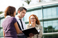 Group of office workers outdoor Royalty Free Stock Photography