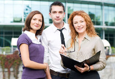 Group of office workers outdoor Royalty Free Stock Photo
