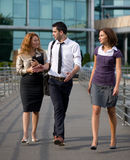 Group of office workers outdoor Stock Photos