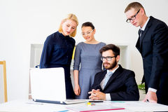 Group of office workers Royalty Free Stock Photography