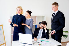 Group of office workers Royalty Free Stock Photos