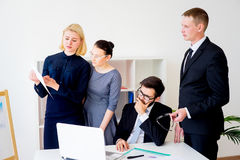 Group of office workers Royalty Free Stock Photo