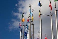 Group og Europeans flag Royalty Free Stock Photography