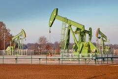 Group of Oil Pump Jacks royalty free stock photos
