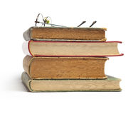 Group of Old Books And Glasses Royalty Free Stock Photography