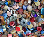 Group Of Old Buttons. Group of old generic clothing and textile buttons as a fashion design concept for the garment business and apparel industry as a symbol of Stock Image