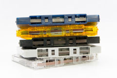 Group of Old  cassette tapes Royalty Free Stock Image