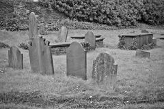 Group of old cemetary tombstones Royalty Free Stock Photo