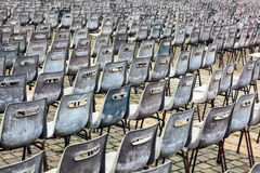Group of old empty chairs. Royalty Free Stock Photos