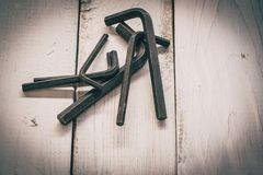 Group of old oxide old tools. royalty free stock photo