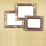 Group of Old Picture Frames on wall Royalty Free Stock Image