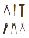 Group of old tools Royalty Free Stock Photo