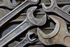 Group of old wrenches Stock Image