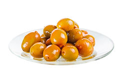Group olives on a plate Stock Photography