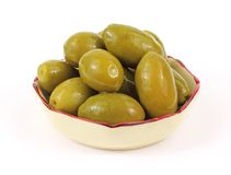 Group Olives in Serving Dish Royalty Free Stock Image
