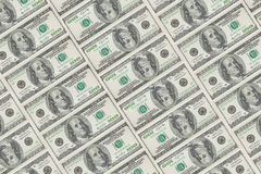 Group of one hundred dollar bills Stock Photos