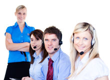Group of operators Royalty Free Stock Photos