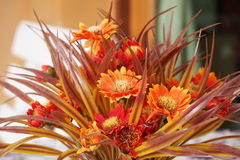 Group of orange artificial flower Royalty Free Stock Photo