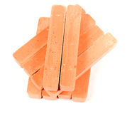 Group orange chalk Stock Image