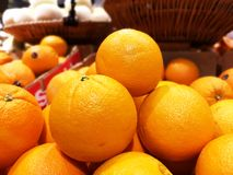 Group of oranges in the basket royalty free stock photos