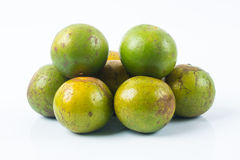 Group of the oranges. Image of Thai fruit , group of the green oranges , tasty and healthy Royalty Free Stock Photography