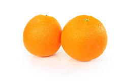 Group of oranges isolated. On white background Royalty Free Stock Images