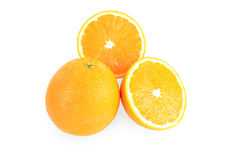 Group of oranges. Isolated on white background Stock Photography