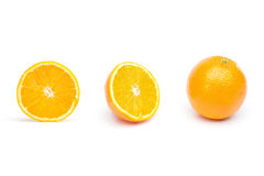 Oranges cut in half Royalty Free Stock Photography