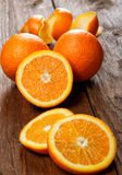 Group of oranges on a  table Royalty Free Stock Image