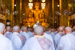 Buddhist Priest Ordination Ceremony Stock Photos