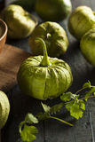 Group of Organic Green Tomatillos Stock Image