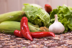 Group of organic vegetables Royalty Free Stock Photos