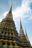 Group of Ornamental Stupa of Wat Pho Monastery at Bangkok. Stock Photography