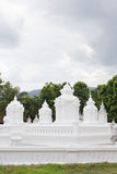 Group of pagoda in Wat-Suan-Dok. famous temple in Chiang Mai Stock Image