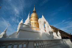 Group of Pagoda of Wat Suan Dok temple in Thailand. Royalty Free Stock Images