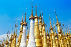 Group of  pagodas Royalty Free Stock Photos
