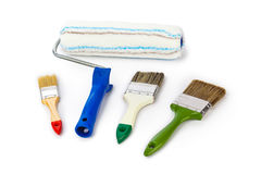 Group of paint brushes Stock Image