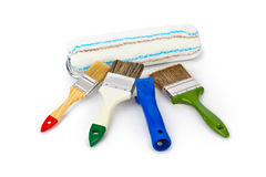 Group of paint brushes Royalty Free Stock Photo