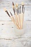 Group of paintbrushes Royalty Free Stock Image