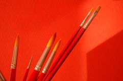A group of paintbrushes. Of different sizes Royalty Free Stock Photography