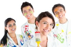 Group of painters Royalty Free Stock Photo